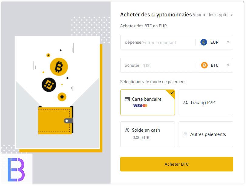 Acheter de la cryptomonnaie avec Binance - EUR / BTC