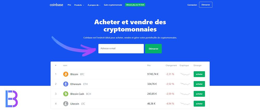 Acheter et vendre des cryptomonnaies avec Coinbase