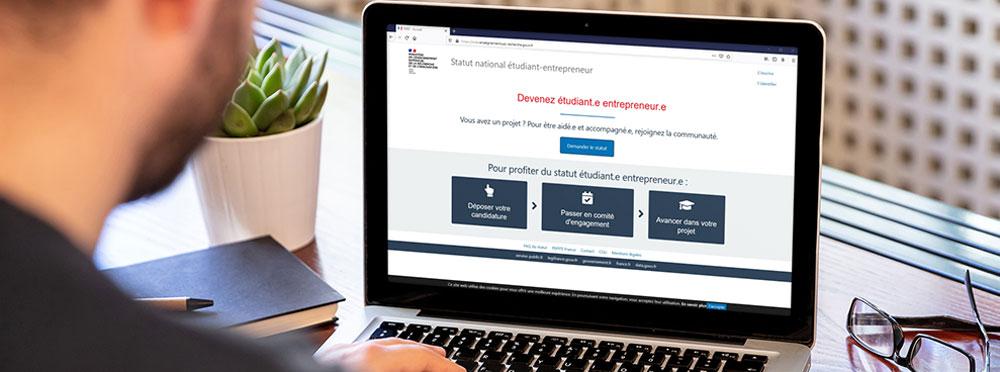 Statut Étudiant Entrepreneur - Démarches en ligne sur SNEE - Site Internet Ministère