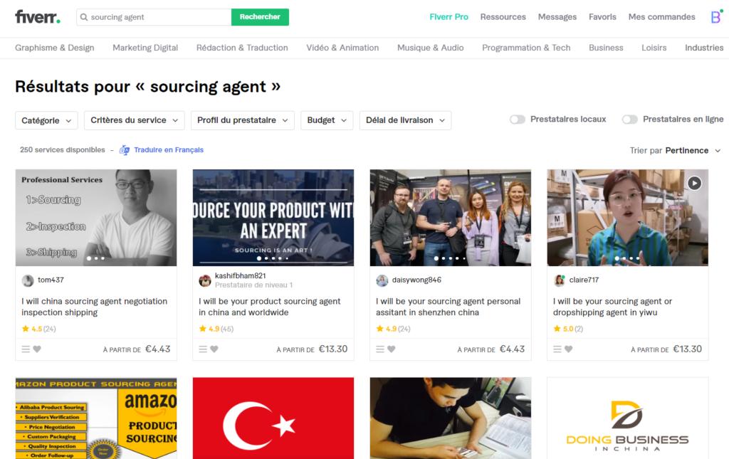 Utiliser Fiverr pour trouver un agent en dropshipping