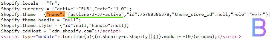 Code source thème shopify